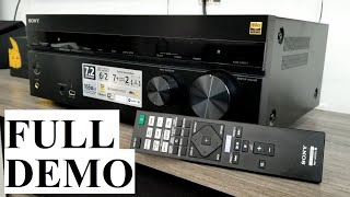 SONY STR-DN1080 7.2 Channel Receiver DEMONSTRATION FULL DEMO TEST TRY Before Buying