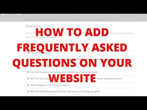 How to add frequently asked questions on your website