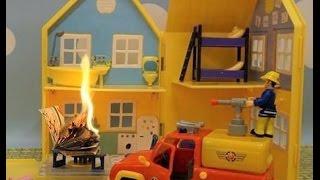 Bajka Świnka Peppa po polsku. Strażak Sam gasi pożar w domku Peppy!