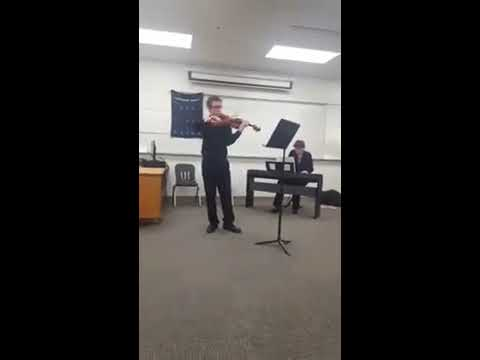 This is a video of me at Solo & Ensemble my senior year. The quality isn't great but hopefully it gives you an idea of my level of playing.
