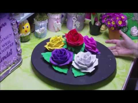 DIY - wunderschöne Rosen aus Moosgummi