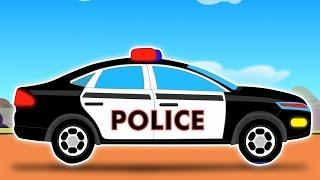 Carro da polícia-Car Wash   Desenhos para caçoa   Popula caçoar Vídeo   Police Car-Car Wash
