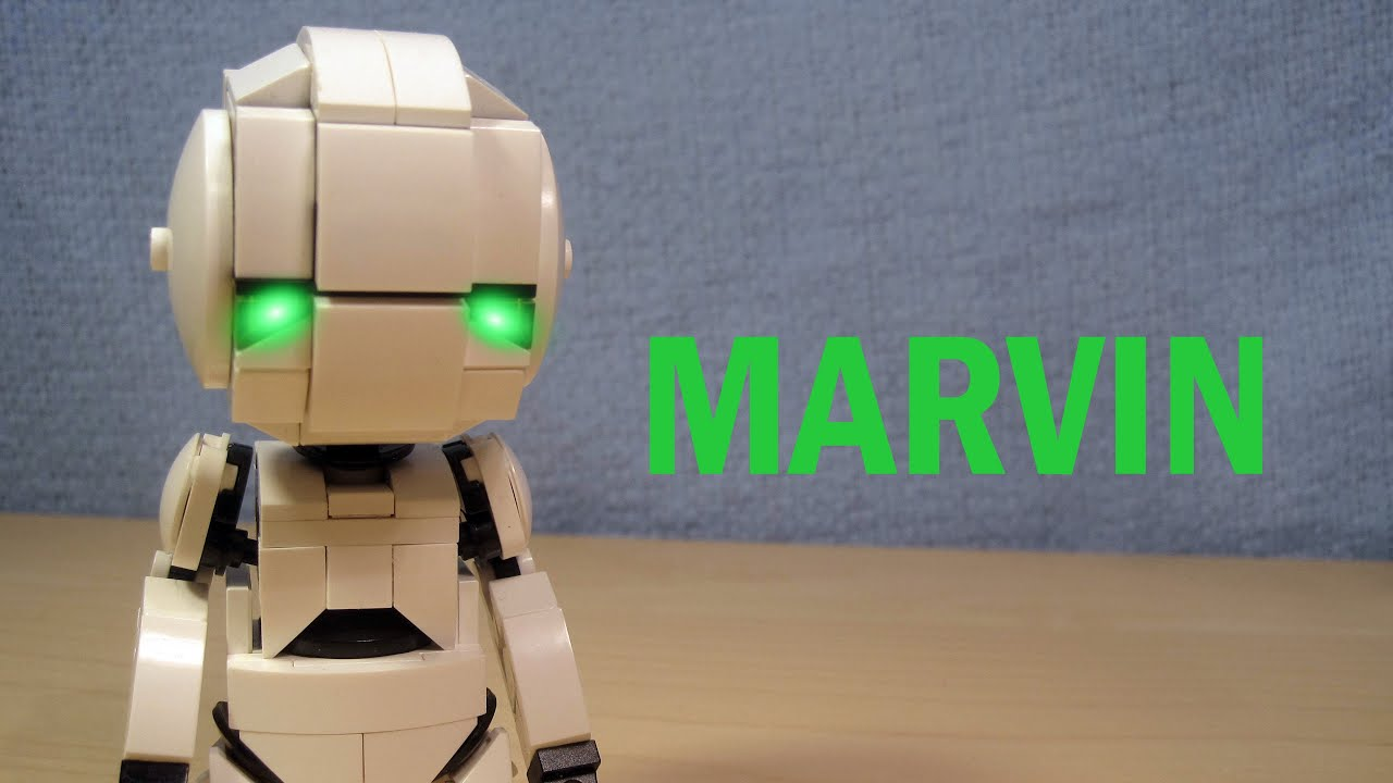 Marvin in LEGO (Hitchhiker's Guide to the Galaxy MOC)