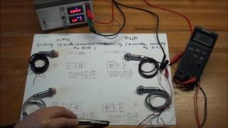 NPN & PNP NO NC Proximity Switches - experiments with function and Pull Down Resistors