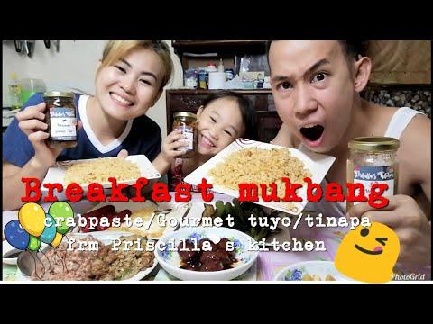 Filipino Breakfast Mukbang ( grabpaste, gourmet tuyo and tinapa)