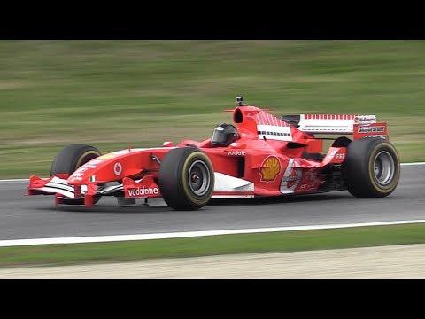 Ferrari F2005 F1 V10 ex Barrichello EPIC Sound on Track!