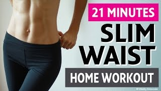 Slim Waist Home Workout For Women - 6 Exercises For a Smaller Waist