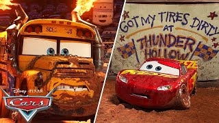Miss Fritter vs. Lightning McQueen | Pixar Cars