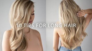 How To Grow Your Hair Long + Healthy 💇♀️💕 10 EASY Tips