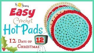 EASY Crochet Hot Pad Pattern - Home Decor Crochet Tutorial