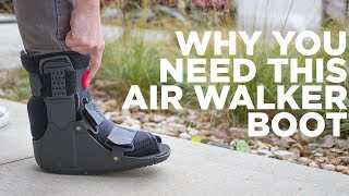BraceAbility Orthopedic Air Walker Boot Cast for Ankle Sprains, Fractures and Achilles Tendonitis