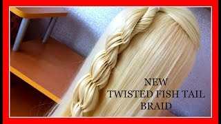 NEW _ T W I S T E D _  FISHTAIL BRAID _HAIRSTYLE / HairGlamour Styles / Braids Hair Tutorial