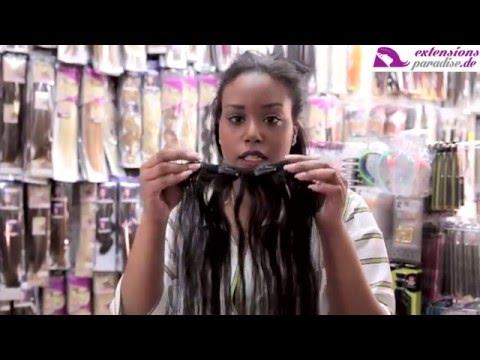 Clip In Extensions reinmachen Anleitung für kurze Haare - ExtensionsParadise