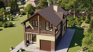 Проект дома 155-B, Площадь дома: 155 м2, Размер дома:  7,6x16,4 м