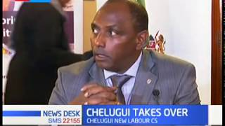 CS Ukur Yatani hands over labour docket to Simon Chelugui after cabinet reshuffle