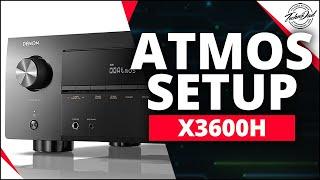 Denon AVR-X3600H Unboxing & Dolby Atmos Setup | DTS:X & IMAX Enhanced A/V Receiver
