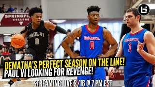Jeremy Roach & Trevor Keels Look to Upset Undefeated Dematha! Streaming Live!