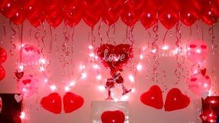 Birthday Surprise Decoration On Wifes Birthday At Home, Birthday Room Decoration Ideas