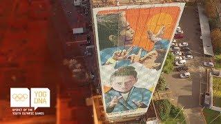 Olympic world champ Paula Pareto has a 55metre high mural in Buenos