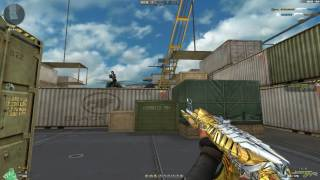 Cross Fire China Ak47-knife Born Beast Noble Gold !