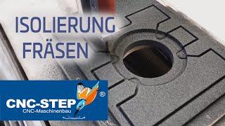 Videotutorial: Glasschaum Zirkularfräsen mit CNC-STEP High-Z S-1000/T