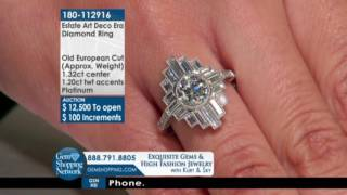 Gambar cover Art Deco Era Diamond Ring - Gem Shopping Network