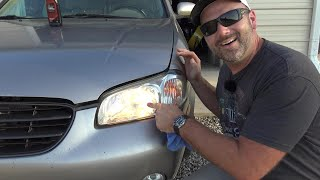 5 Minute CHEAP FIX to Foggy Headlights NO TOOLS Needed! Results that Last!