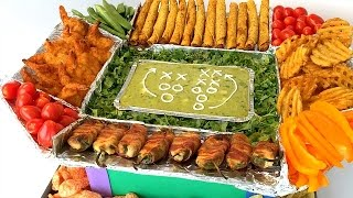 SNACKADIUM! How to Build a Snack Filled Stadium for your SUPER BOWL PARTY