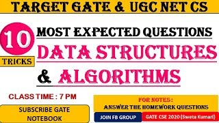 TRICKS To Solve Data Structures & Algorithms : GATE & UGC NET CS