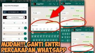 Cara Mengganti Entri Keyboard WhatsApp