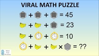 MATHS PROBLEM STUMPING THE INTERNET - Bananas, Clock, Hexagon Algebra Problem Solved