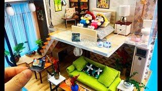 diy-miniature-dollhouse-modern-house-with-led-light