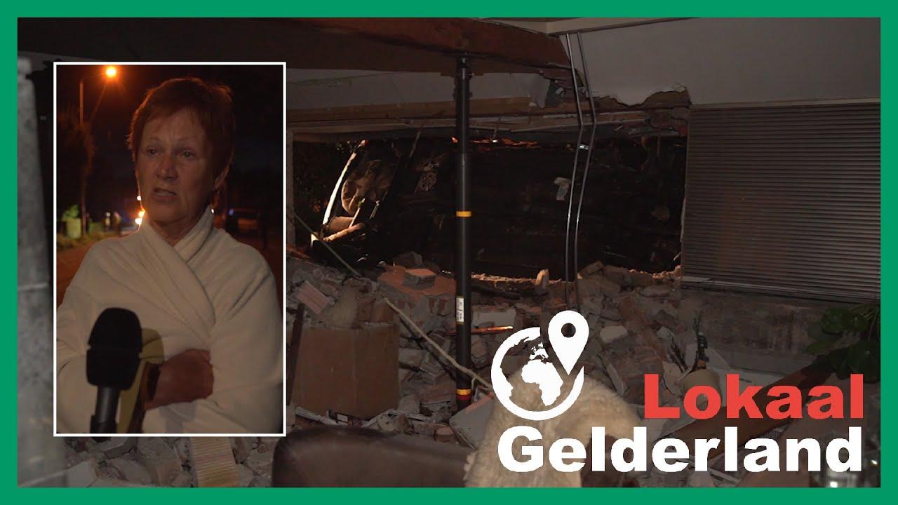 Buurtbewoner hoort auto in woning Leuvenheim crashen