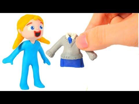 BABY ELSA NEW OUTFIT ❤ SUPERHERO PLAY DOH CARTOONS FOR KIDS (видео)