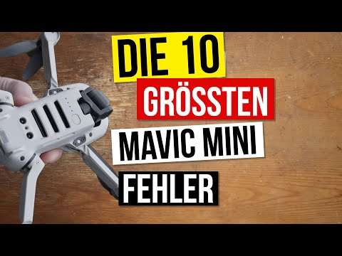 Vermeide diese 10 häufigsten DJI Mavic Mini Fehler Anfänger beim Filmen