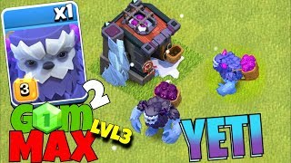 "MAX lvl 3 YETI w/ 3 star!! ""Clash Of Clans"" NEW TROOP!"