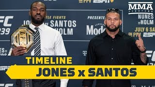 UFC 239 Timeline: Jon Jones Vs. Thiago Santos   MMA Fighting