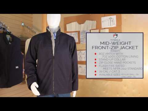 Mid weight Front zip jacket Product Video K610T