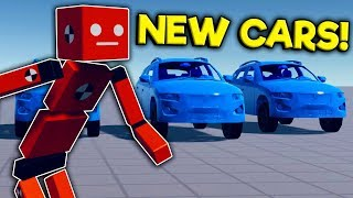 I Created an Army of Cars to Run Over Ragdolls in the New Fun with Ragdolls Update!