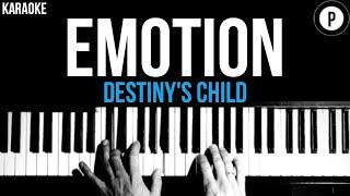 Destiny's Child - Emotion Karaoke SLOWER Acoustic Piano Instrumental Cover Lyrics