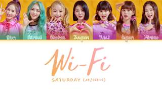 SATURDAY(세러데이) - 와이파이 (WiFi) NEW! ver. (Color Coded Lyrics Eng/Rom/Han/가사)