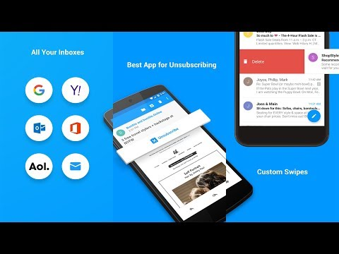 How to Easily Unsubscribe From Junk Emails In Android    Email App Review!
