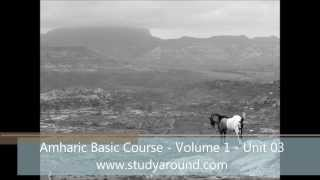 Amharic Basic Course - Volume 1 - Unit 03