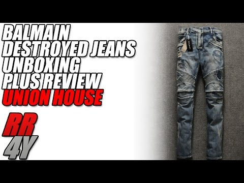 Balmain Destroyed Jeans Replica Unboxing/Review