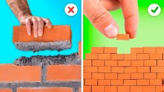 DIY MINIATURE HOUSE FROM LITTLE BRICKS || 5-MINI-te Decor Crafts!