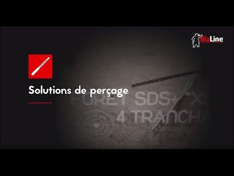 Foret marteau SDS+ 4 tranchants 'XTRÊME' D= 10 x 160 mm