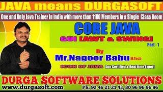 "Core Java || "" GUI [AWT & SWING ]"" || Part - 1 by Nagoor Babu Sir"