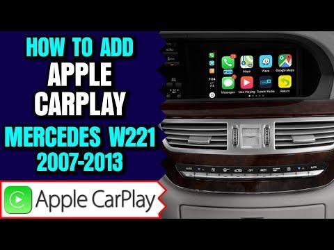 Mercedes Benz W221 S Class 2007-2013 Apple CarPlay Android Auto Camera  Input HDMI Video Mirror Link - NavTool