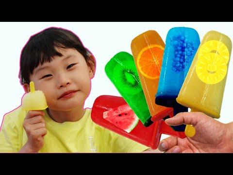 과일 아이스크림 만들기와 수영장 시크릿쥬쥬 키즈카페 놀이 supermarket song nursery rhyme | johny johny