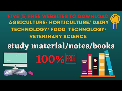 Five websites to download FREE online study material of Agriculture and allied sciences| Books|Notes